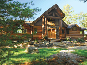 Timberland cabins log cabin kits log buildings log home for New home packages